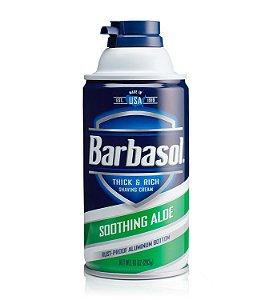 Barbasol Soothin Aloe Espuma de Barbear Importado 283g