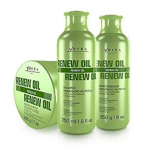 Ybera Renew Oil Kit Manutenção Sh. Cond e Mask Manutenção 3 Itens