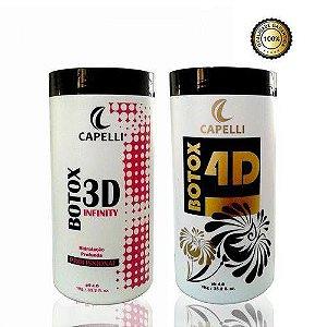 Capelli Botox 3d 1kg + Botox 4d Matizador 1kg