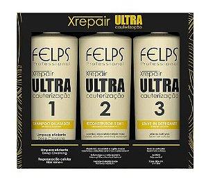 Felps Kit Ultra Cauterização Xrepair 3x250ml