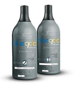 Kit Blue Gold Premium Salvatore (Passo 1 e Passo 2) 1L - Escova Progressiva