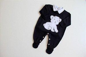 macacão ursinho azul marinho com body e calça