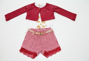 conjunto shorts, camiseta manga curta e bolero
