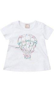 camiseta balão branca