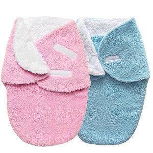 Cueiro Forrado Enroladinho Saco de Dormir Para Bebê Sherpa Plush