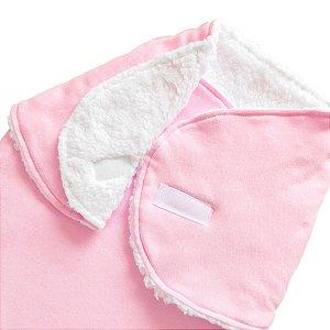 Cueiro Forrado Enroladinho Saco de Dormir Para Bebê Sherpa Algodão