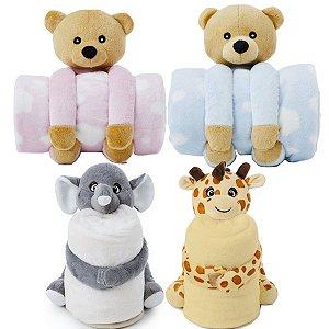 Manta Cobertor Com Pelúcia Para Bebê Microfibra