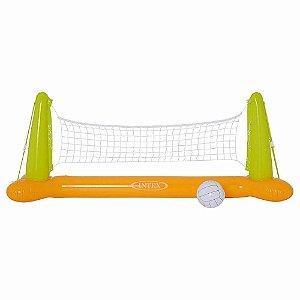 Kit Voleibol Aquático Inflável para Piscina Brinquedo Divertido 86x25 cm Intex