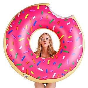 Boia Donut Gigante Rosa 120 cm