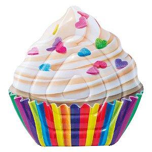 Boia Colchão Cupcake Gigante Inflável
