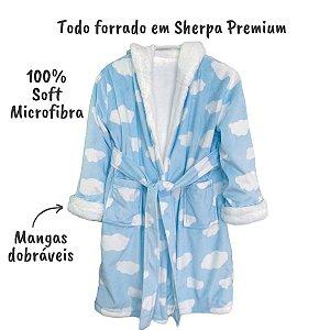 Roupão Infantil Sherpinha Microfibra P