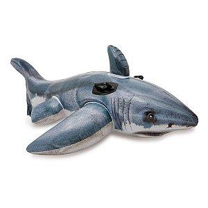 Boia Inflável Infantil Tubarão com Alça 173 cm Intex