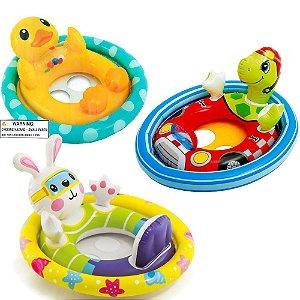 Boia Infantil Inflável Bebê Bichinho Com Assento