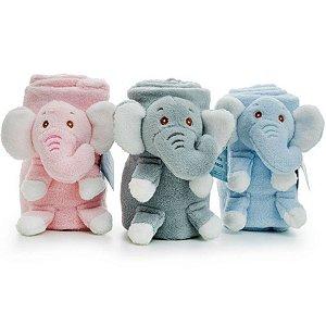 Manta Cobertor Com Pelúcia Para Bebê Microfibra Elefantinho