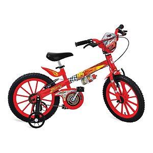 """Bicicleta 16"""" Cars Disney Bandeirante - 2337"""