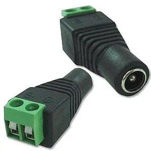Conector Adaptador P4 Fêmea Borne Cftv Segurança Câmera