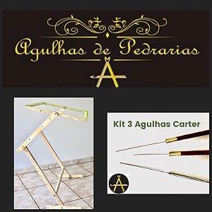 Kit 3 Agulhas Cárter + Bastidor Mesa 60x50