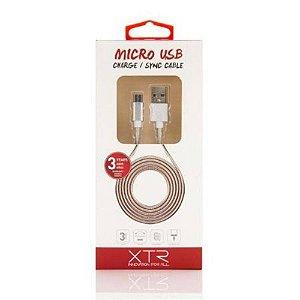 Cabo Micro USB 1.5m Silver XTR