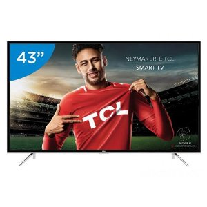 "Smart TV LED 43"" L43S4900FS Full HD Conversor Digital Wi-Fi 3 HDMI 2 USB TCL Semp Toshiba"