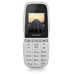 Celular UP Play Dual Chip P9077 MP3 com Camera Branco - Multilaser