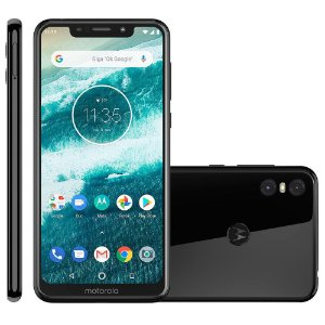 Smartphone Motorola Moto One 64GB Dual Chip 4G XT1941 - Preto