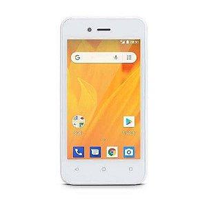 Smartphone Multilaser MS40 Cor Branco Tela 4 pol. Câmera 2 MP + 5 MP 3G Quad Core 4GB Android 4.4