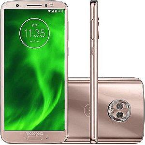 "Smartphone Motorola Moto G6 Dual Chip Android Oreo - 8.0 Tela 5.7"" Octa-Core 1.8 GHz 64GB 4G Câmera 12 + 5MP (Dual Traseira) - Ouro Rose"