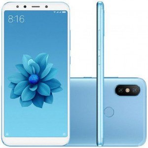 Smartphone Xiaomi Mi A2 Dual Android 8.1 Tela 5.99 32gb 4gb Ram Camera Dupla 12+20mp Azul