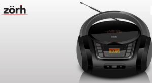 RÁDIO PORTÁTIL ZORH Z01AV CD PLAYER USB SD AUXILIAR MP3 AM E FM - BIVOLT