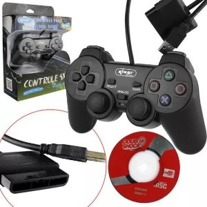 Controle Analógico P/ Ps1, Ps2, Ps3 E Pc Knup Kp-5422