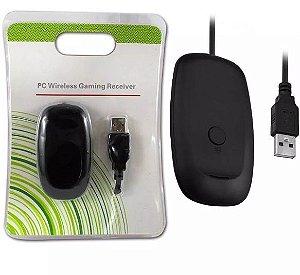Receptor do Controle Xbox 360 USB para PC s/ Fio