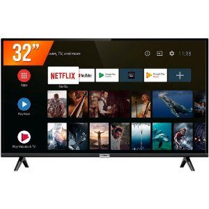 Smart TV LED 32'' HD TCL 32S6500S 2 HDMI 1 USB Android OS Wi-Fi