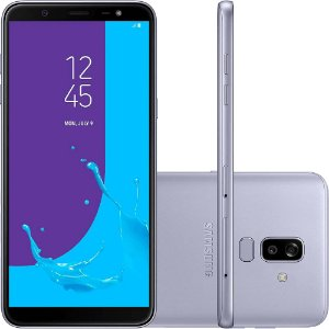 "Smartphone Samsung Galaxy J8 64GB Dual Chip Android 8.0 Tela 6"" Octa-Core 1.8GHz 4G Câmera 16MP F1.7 + 5MP F1.9 (Dual Cam) - Prata"