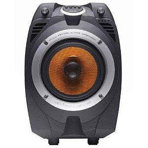 Caixa Amplificada Bluetooth MultiUso Nks Pk550 100w Rms Radio Fm Entradas Microfone Usb Sd - Bivolt