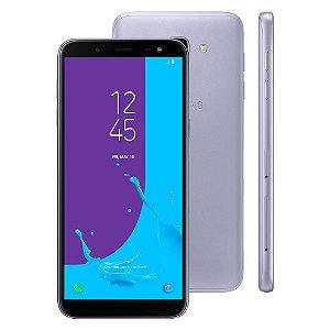 "Smartphone Samsung Galaxy J6 Câmera 13MP, TV Digital HD, Dual Chip, Android, 8.0, Processador Octa Core e 2GB de RAM, 64GB, Prata, Tela de 5,6"""