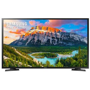 "Smart TV LED 43"" Samsung 43J5290 Full HD com Conversor Digital 2 HDMI 1 USB Wi-Fi Screen Mirroring + Web Browser - Preta"