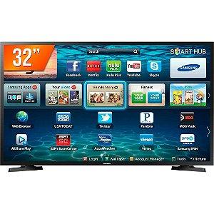 SmartTV LED 32 HD Samsung LH32 2 HDMI 1 USB Wi-Fi