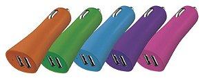 Smartogo carregador veicular para celular com 2 USB CB079 - Multilaser