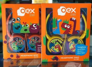 Headphone Kids Dino ou Boo Infantil - Oex
