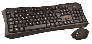 Combo Prime Wireless Teclado E Mouse Óptico Sem Fio Tm400 Oex