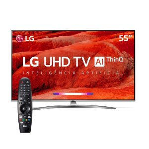 "Smart TV LED LG 55"" UM7650 Ultra HD 4K - LG"