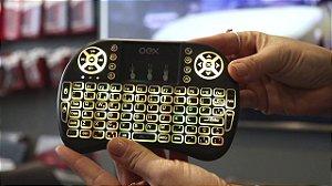 Mini Teclado Sem Fio Para Smart Tv Air Mouse Touch Oex Ck103