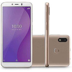 """Smartphone Multilaser G 32GB 1GB RAM Tela 5,5"""" Câmera Traseira 5MP Frontal de 5MP Bateria 2.700mAh Dourado"""
