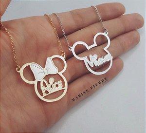Personalizado Mickey ou Minnie com nome