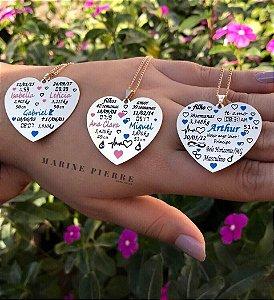 Personalizado dados filhos no coração