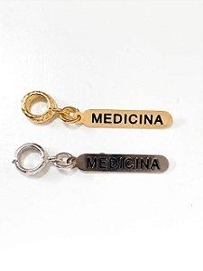 Berloque plaquinha Medicina