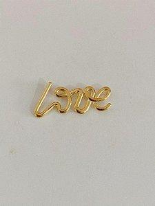 LOVE LISO DOURADO C/ CORRENTE