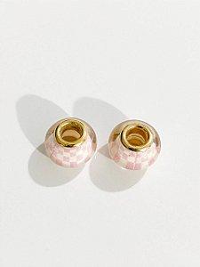 Separador murano rosa xadrez