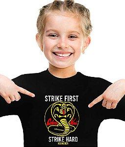 Camiseta cobra kai hard infantil