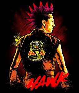 Camiseta Cobra Kai Hawk